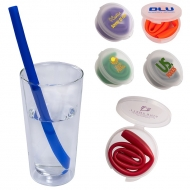 REUSABLE SILICONE DRINKING STRAW IN CASE